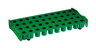 Work Station for 40 cryo tubes,  green, polypropyleen