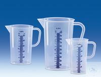 Maatbeker, PP, blauwe schaalverdeling in reliëf, 2000 ml