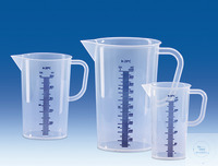 Maatbeker, PP, blauwe schaalverdeling in reliëf, 5000 ml