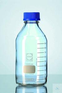 DURAN® GL 45 labofles, helder, met schroefdop en uitgietring (PP), 20000 ml