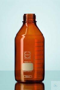 DURAN® GL 45 labofles, bruin, zonder schroefdop en uitgietring, 1000 ml